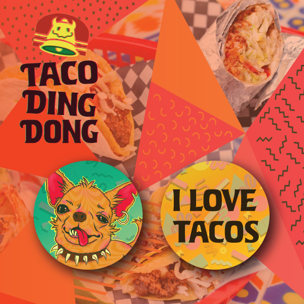 I love tacos button pack